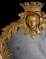 A pair of important George II carved giltwood mirrors attributed to John and Thomas Vardy