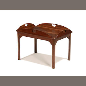 A 19th century mahogany butler's tray on stand