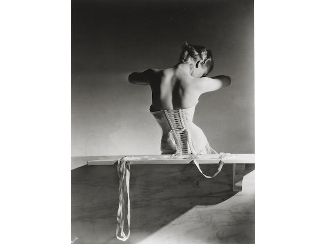 Horst P. Horst (German/American, 1906-1999) The Mainbocher Corset, Paris, 1939 35.2 x 27.6cm (13 7/8 x 10 7/8in).