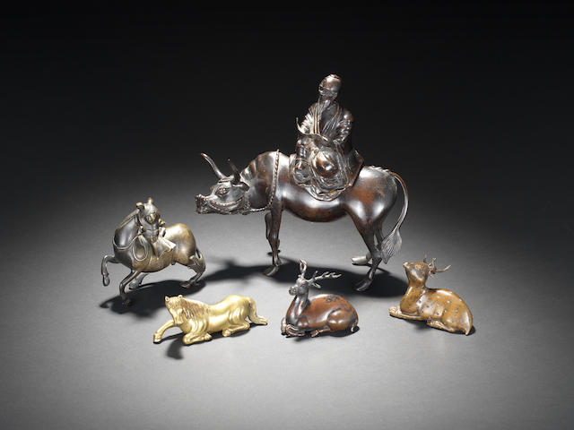 Five bronze and gilt bronze figures 17th/18th century