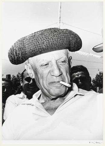 André Villers, Pablo Picasso en toréador - Vallauris, summer 1954, print 1980, signed, 30x40cm