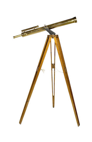 A 3-inch Dollond brass refracting telescope on stand,  English, late 19th century,