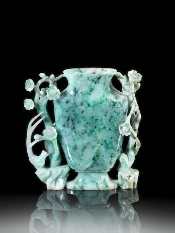 A jadeite baluster vase Qing Dynasty
