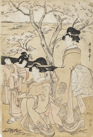 Kitagawa Utamaro (1753-1806) and Kitagawa Utamaro II (fl. 1810's - 1830's) and other 18th century