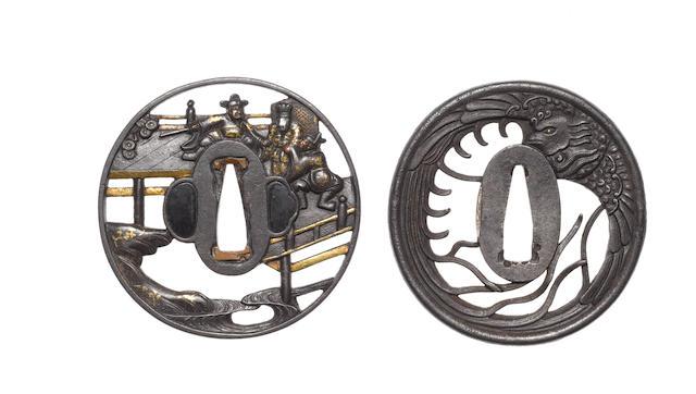 Four sukashi tsuba 19th century