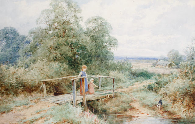 Henry John Sylvester Stannard, RBA (British, 1870-1951) Crossing the stream