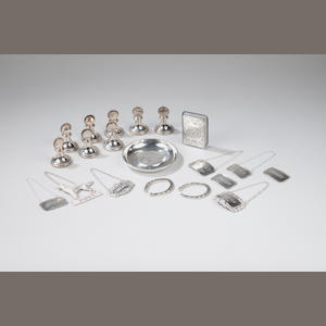A set of eight modern  silver menu holders W. Broadway & Company, Birmingham 1986  (20)
