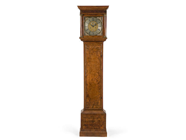 An early 18th Century walnut longcase clock signed Samuel Watson