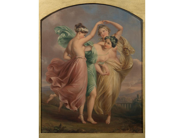 Edmond Thomas Parris (British, 1793-1873) The three graces