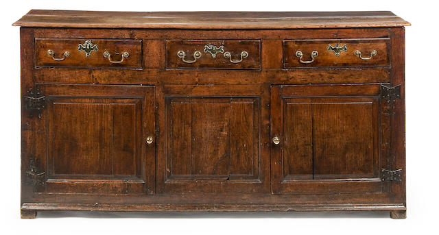 An 18th Century oak dresser base