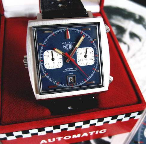 Heuer Monaco  Ref. 1133 B 1970, Serial 160149  (page 204/205) Box & Papers