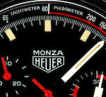 Heuer Monza  Ref. 150501 1975, Serial 365657  (page 228/229) Papers & Heuer Helmet Presentation Box