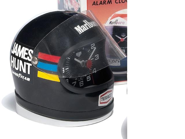 A Heuer Helmet Clock James Hunt, 1970's