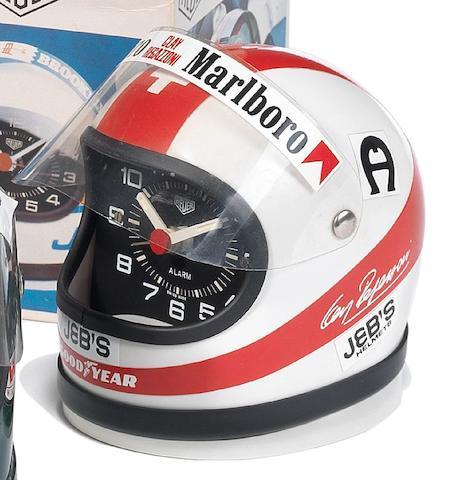 A Heuer Helmet Alarm Clock Clay Regazzoni, 1970's
