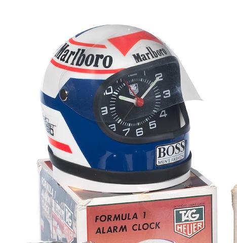 Tag Heuer Helmet Alarm Clock Alain Prost, 1980's