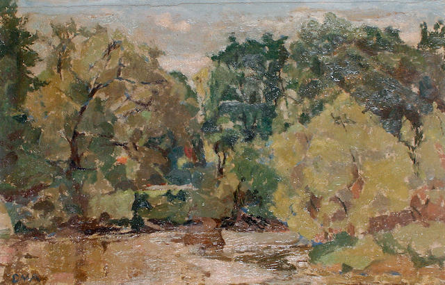Diana Maxwell Armfield RA (British, born 1920) 'River at Richmond'