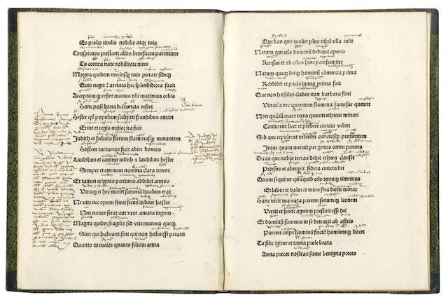 AGRICOLA (RUDOLPHUS) Historia periucunda sanctissime matris Anne... carmine heroico: edita. Magister Joannes Martini saganensis