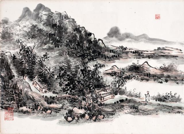 Huang Binhong (1865-1955) Scholar in Landscape