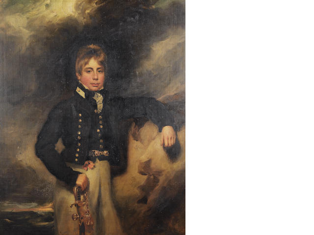 George Henry Harlow (born London 1787-1819) Portrait of John Windham Dalling, three-quarter-length, as a midshipman,
