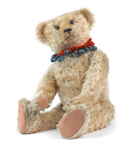 Bing blonde mohair Teddy Bear, circa 1910