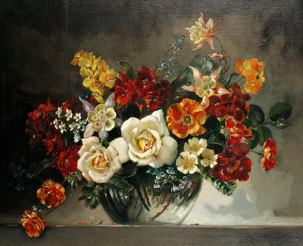 Cecil Kennedy (British, 1905-1997) Spring flowers