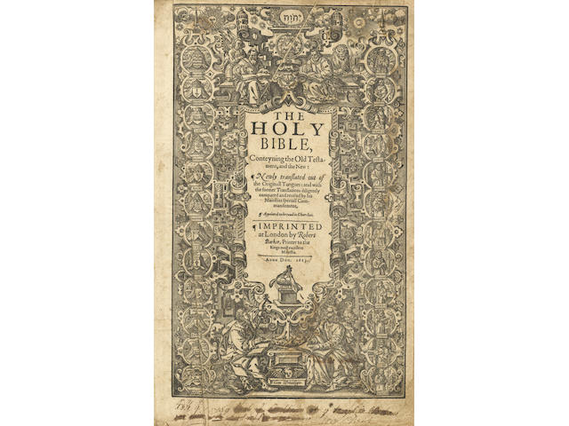 "BIBLE, in English, Authorised version The Holy Bible, King James' Great ""She"" Bible"