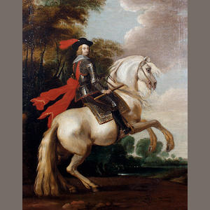 Flemish School, late 17th Century Philip IV on horseback