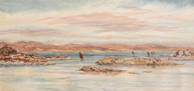 John Brett, ARA (British, 1831-1902) Tarbert, Scotland