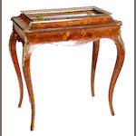 A Louis XV-style walnut, marquetry and gilt metal-mounted jardinière