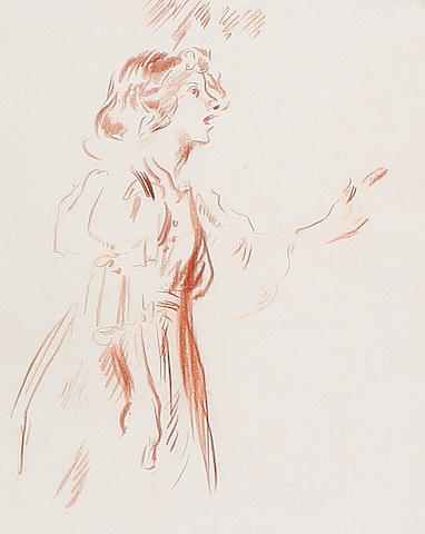 Sir William Orpen, R.A., H.R.H.A. (British, 1878-1931) 'Singer'