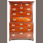 An early George III mahogany chest on chest, circa 1770