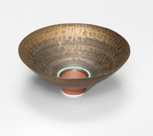 Dame Lucie Rie (Austrian/ British 1902-1995) A Footed Bowl, circa 1983