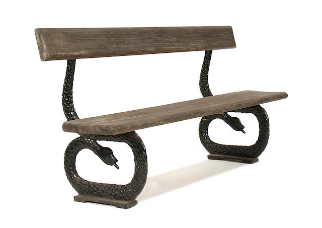 An unusual Victorian cast iron garden seat