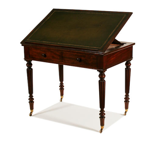 An early Victorian mahogany writing table by Gillows
