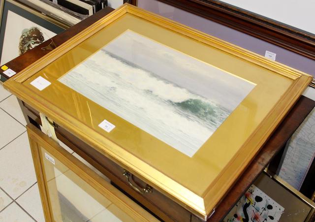 Alfred Mitchell (British, fl.1880-1904) Moorland scene; seascape