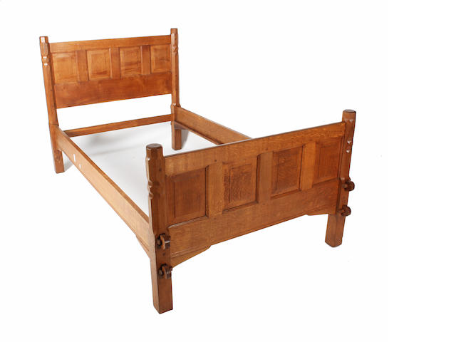 An Arts & Crafts bed