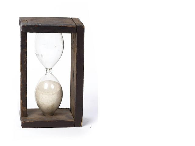 A pine swivel-case sand-glass, European, early 19th Century