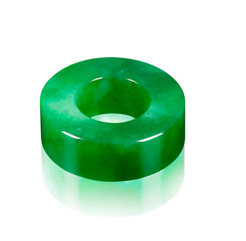 A very important jadeite hoop