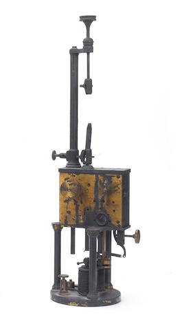 An early clockwork driven rod arc lamp, by Jules Duboscq,