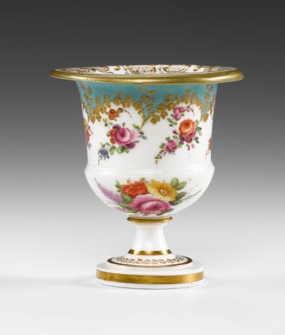 A rare Nantgarw small vase, circa 1818-20