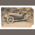Fourteen motoring postcards, Edwardian,