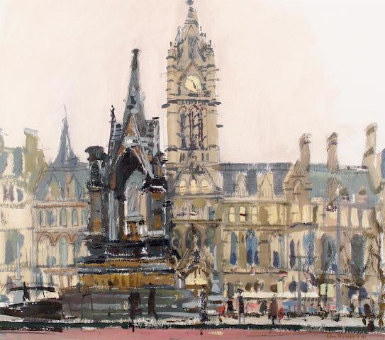 Ken Howard R.A. (British, born 1932) Manchester Town Hall
