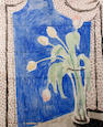 Vanessa Bell (British, 1879-1961) Still life with tulips - tile design for King's College Garden Hostel, Cambridge, 1951