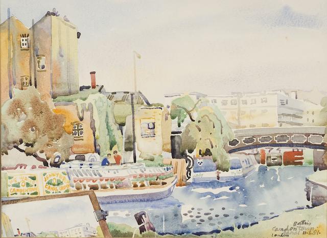 Walter Whall Battiss (South African, 1906-1982) Camden Lock