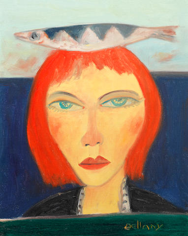 John Bellany, CBE RA HRSA LLD(Lon) (British, born 1942) Woman with fish on head