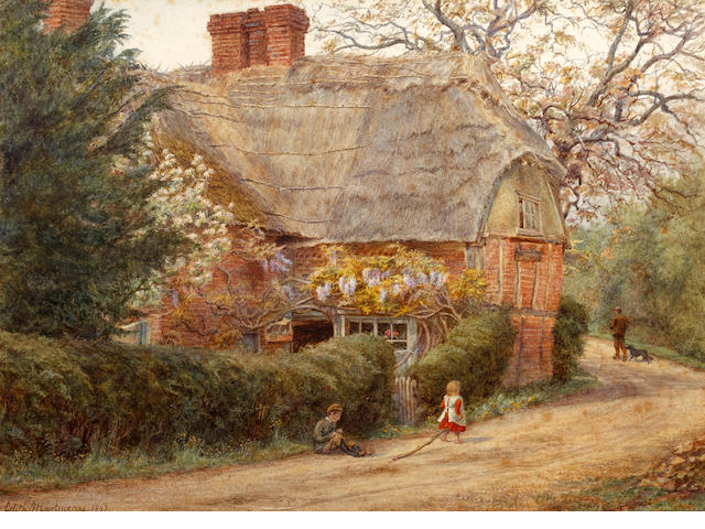 Edith Martineau (British, 1842-1909) Through the cottage gate