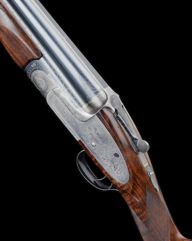 A 12-bore (2¾in) 'Premiere' single-trigger over-and-under sidelock ejector gun by E.J. Churchill, no. 6369