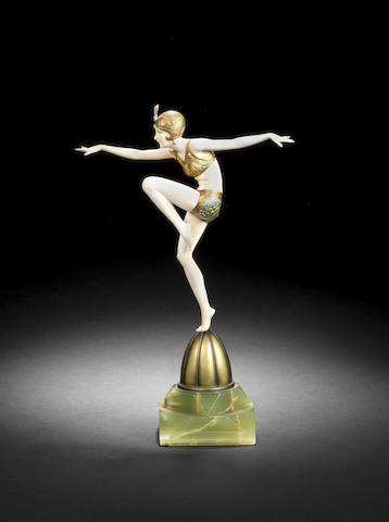 Ferdinand Preiss  'Con Brio' a Bronze and Ivory Model, circa 1925
