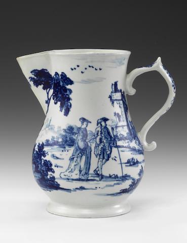 An important Vauxhall armorial jug, circa 1755