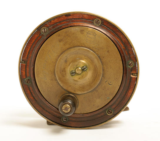 Perth style fishing reel, makers Anderson of Dunkeld